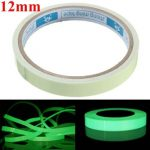 Self Adhesive Green Luminous Tape Waterproof Photoluminescent Tape 12mm Wide Glow In The Dark Stage Home Decor
