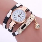 DUOYA Brand Fashion Bracelet Watch Double Colors With Alloy Ball Decoration Ladies Women Watch