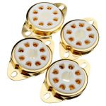 4pcs Gilded 8pin Ceramic Socket Ceramic Vacuum Tube Electron Tube For KT88 EL34 6V6 274B