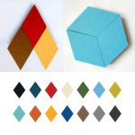 3PCS Honana Creative Colorful Rhombus Wool Felt Multifunctional Wall Sticker Smart Collect Boards