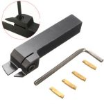 MGEHR1616-3 External Grooving Tool Turning Tool Holder For 3mm Cut With 4pcs MGMN300 Inserts
