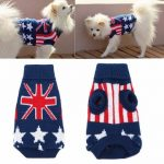 Union Jack Pet Clothes Dog Cat Puppy Winter Warm Knit Sweater Coat Costume Apparel Dog Sweater