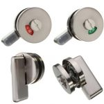 Stainless Steel Bathroom Toilet Door Indicator Turn Release Lock Latch Bolt