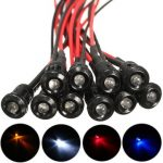 10pcs 3mm Pre-Wired Constant LED Bright Water Clear Bulb with Plastic Shell 12V