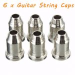 "6 x Chrome Guitar String Through Body Ferrule 1/4"" String Ferrules for Telecaster"