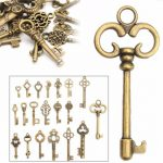 20pcs DIY Vintage Antique Old Look Bronze Skeleton Keys Fancy Heart Bow Pendant