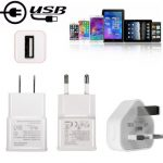 5V 1A EU US UK Plug USB Travel Wall Charger Power Charging Adapter For iPhone Samsung Xiaomi LG
