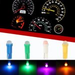 T5 1 COB LED High Power Car Dashboard Licence Plate Speed Wedge Light Bulb
