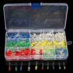 500Pcs 3mm 5mm Diode 10 Values LED Assortment Kit For Arduino