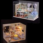 DIY Dollhouse Kit Heart Of Ocean And Kitten Diary Gift Decor Collection T-005 H-013