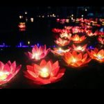 Silk Lotus Flower Wishing Lamp Floating Water Candle Light Birthday Wedding Party Decor