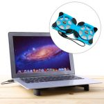 Mini Octopus Shape Foldable LED USB Cooling Pad Cooler Fan For Macbook Notebook Laptop
