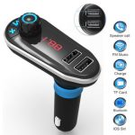 Bluetooth Car Kit MP3 Player TF FM Transmitter USB Charger for iphone 7 Samsung