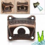 Zinc Alloy Vintage Collectable Wall Mounted Beer Soda Bottle Bar Opener