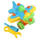 DIY Small Plane Blocks Puzzle Kids Educational Toy