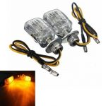 Amber 6 LED Mini Motorcycle Turn Lights Blinker Indicator