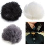 3 Colors Fur Windscreen Windshield Wind Muff for Lapel Lavalier Microphone Mic