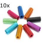 10Pcs M3 15mm Knurled Standoff Aluminum Alloy Anodized Spacer
