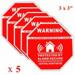 5Pcs Home Alarm Security Stickers Decals Signs for Window Doors
