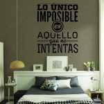 Spanish Wall Stickers The Only Thing is Impossible Vinyl Mural Decals Home Decoration