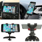 360 Universal Car CD Slot Mount Cradle Holder Stand For iPhone Samsung Galaxy Cellphone GPS
