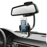 Universal 360 Degree Car Rear View Mirror Mount Holder Stand Cradle For Cell Phone GPS