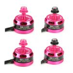 4X Racerstar Racing Edition 2205 BR2205 2600KV 2-4S Brushless Motor Pink For 210 X220 250 280