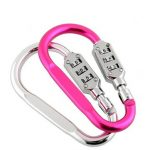3-Digit Climbing Carabiner Resettable Combination Padlock