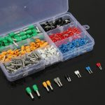600Pcs Insulated Cord End Terminal Bootlace Cooper Ferrules Kit Set Wire Copper Crimp Connector