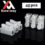 Excellway CH3 Quick Wire Connector Terminal Block Spring Connector LED Strip Light Wire Connector