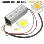 High Power 100W LED SMD Chip Bulb with Waterproof Driver Supply DC20-40V