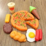 13PCS Plastic Pizza Cola Ice Cream Children Kids Pretend Role Play Set Toy