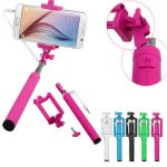 Extendable 3.5mm Wired Monopod Handheld Portrait Selfie Stick for IOS Android Smart Phone