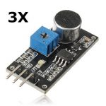 3Pcs Sound Sensor Detection Module Electret Microphone For Arduino