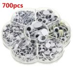 700Pcs 7Sizes Sticker Wobbly Giant Googly 3D Eyes Toy DIY Scrap Booking Children Kids Doll Handcraft