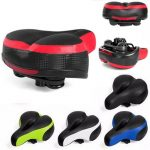 Wide Big Bum Road MTB Bike Saddle Bike Bicycle Seat Cushion Shockproof And Reflector
