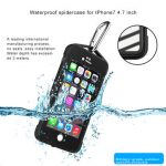 IP68 9.8 Feet 3 Meters Waterproof Outdoor Climbing Spider Web Anti-drop Case For iPhone 7
