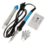 110V/220V 60W Adjustable Electric Temperature Gun Welding Soldering Iron Tool with Tin Wire 5Tips