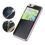 USAMS US-ZB012 Adhesive Sticker PU Leather Card Slot Sticker Card Pouch Holder For iPhone 6 6s 4.7""