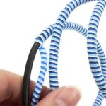 1.4M 3Colors Spring Winding Wire Cable Protector Organizer for Mouse Keyboard Smartphone