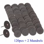 120pcs 1/8 Inch Mandrel Fiberglass Reinforced Cut Off Wheel for Dremel