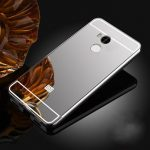 Luxury Plating Frame Mirror PC Hard Back Case for Xiaomi Redmi 4 Prime