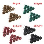 80pcs 80/150/240/300 Grit 25mm Abrasive Wheel Buffing Polishing Wheels for Dremel Rotary Tools