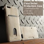 ROCK Cana Series Wood Grain Leather Skin Mobile Phone Bag Vertical Card Slot Case For iPhone 6 6s