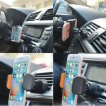 2 in 1 Universal Phone Stand Car Air Vent Holder CD Slot Mount for iPhone Samsung Xiaomi