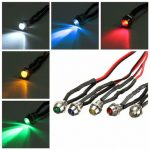 6mm LED Indicator Pilot Dashboard Light For Car Boat Truck