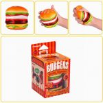 Vlampo Squishy Burger Hamburger Slow Rising Original Box Packaging Bread Collection Toy Decor Gift