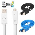 1.5m 5FT Noodle Flat USB 2.0 A to Mini USB B 5 Pin Data Sync Charge Cable