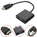 HDMI Male to VGA With Audio HD Video Cable Wire Converter Adapter