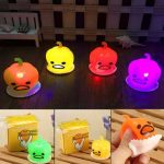 Squishy Squeeze Pumpkin Bright-up Vomitive Shiny Toy Stress Reliever Fun Gift Desk Decor Gadget
